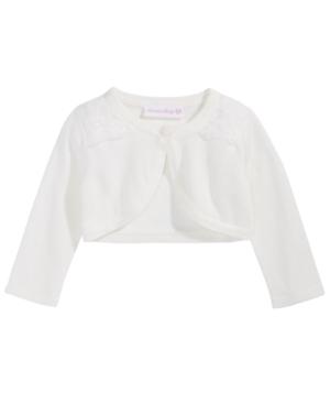 Bonnie Baby Baby Girls Lace-Trim Cotton Cardigan