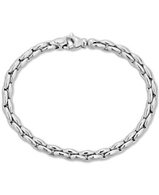 Polished Link Chain Bracelet in Sterling Silver
