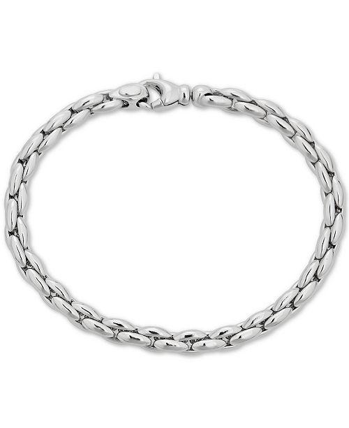Macy's Polished Link Chain Bracelet in Sterling Silver