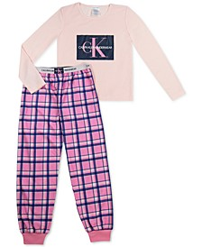 Big Girls 2-Pc. Brushed Logo Pajamas Set