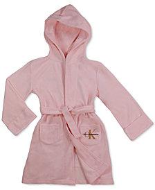 Calvin Klein Big Girls Cozy Logo Hooded Robe