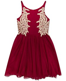 Rare Editions Big Girls Embellished Appliqué Dress