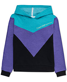 Calvin Klein Big Girls Colorblocked Hoodie