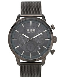 Men's Chronograph Eugene Gunmetal Stainless Steel Mesh Bracelet Watch 46mm