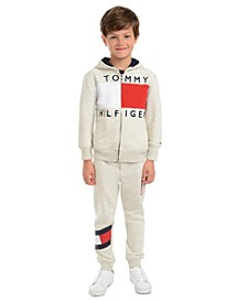 Little Boys Andrew Colorblocked Fleece Hoodie & Kent Logo Sweatpants