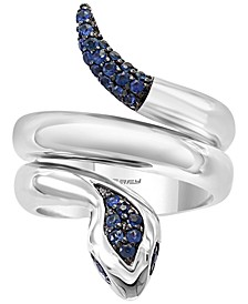 EFFY® Sapphire Snake Ring (1/3 ct. t.w.) in Sterling Silver