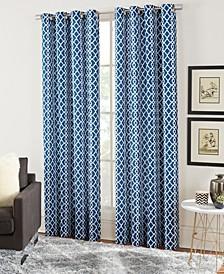 Lara Geometric Print Curtain Sets