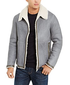 Men's Shearling-Lined Reversible Jacket