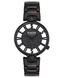 Women's Kirstenhof Black Stainless Steel Bracelet Watch 36mm