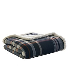 Horizon Bay Plaid Sherpa Throw