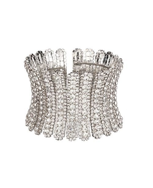 Nina Jewelry Flexible Crystal Cuff Bracelet