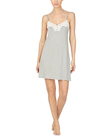 Lace-Trim Chemise Nightgown