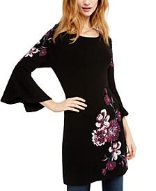 INC Embroidered Sweater Tunic, Created For Macy's