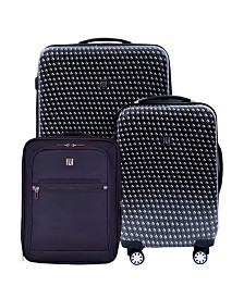 """FUL Metal Chain 28"""", 20"""" and 16"""" Suitcase Set, 3 Piece"""