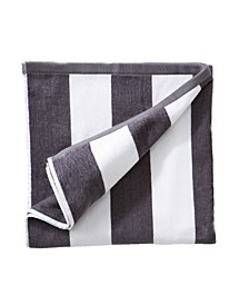 Great Bay Home Plush Cabana Stripe Velour Beach Towel Collection