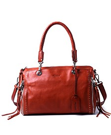 Lily Leather Satchel Bag