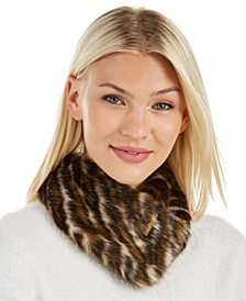 Tiger-Print Faux-Fur Collar