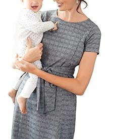 A Pea In The Pod Maternity Jacquard Nursing Dress
