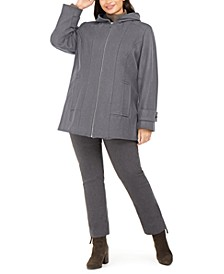 Plus Size Hooded Coat