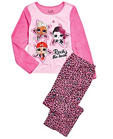 Little & Big Girls 2-Pc. L.O.L. Surprise Fleece Pajama Set