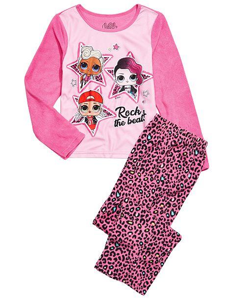 AME Little & Big Girls 2-Pc. L.O.L. Surprise Fleece Pajama Set