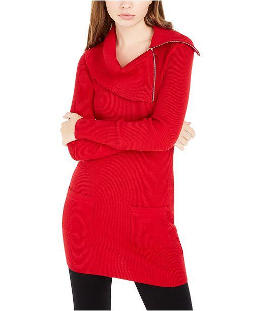 BCX Juniors' Cowlneck Sweater Dress