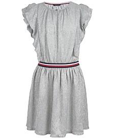 Tommy Hilfiger Big Girls Metallic Crinkle Dress