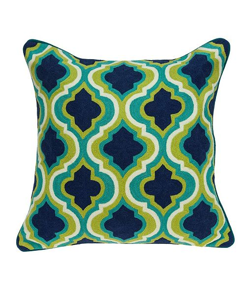 Parkland Collection Handmade Muja Traditional Multicolored Pillow Cover With Down Insert
