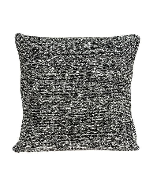 Parkland Collection Zumi Transitional Grey Pillow Cover With Down Insert