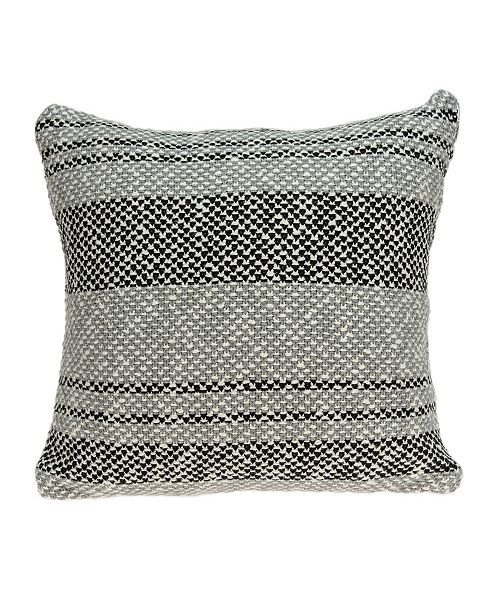 Parkland Collection Bella Transitional Grey Pillow Cover with Polyester Insert