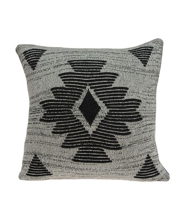 Parkland Collection Shosa Southwest Grey Pillow Cover with Polyester Insert