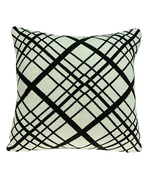 Parkland Collection Misa Transitional White Pillow Cover with Polyester Insert