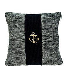 Parkland Collection Ahoy Nautical Blue Pillow Cover