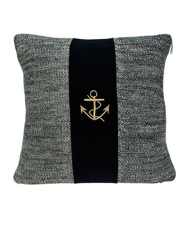 Parkland Collection Ahoy Nautical Blue Pillow Cover