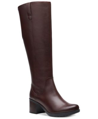 Clarks Women's Hollis Moon Leather Boots