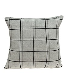 Sami Transitional Tan Pillow Cover With Down Insert