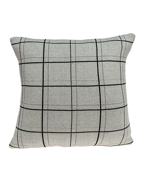 Parkland Collection Sami Transitional Tan Pillow Cover With Down Insert