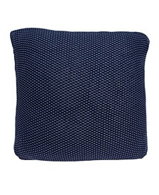 Manni Transitional Blue Pillow Cover With Down Insert