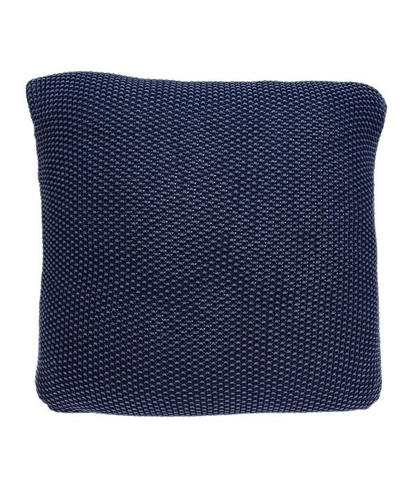 Parkland Collection Manni Transitional Blue Pillow Cover With Down Insert