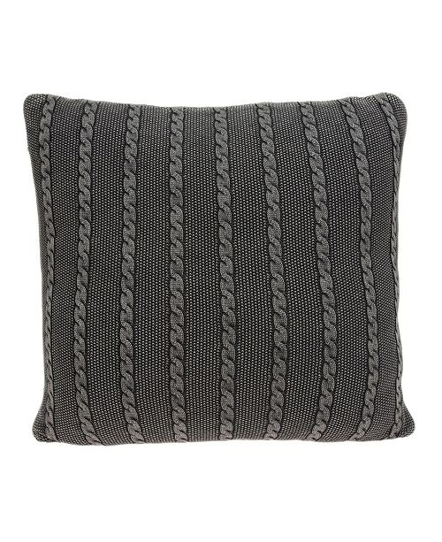 Parkland Collection Chico Transitional Charcoal Pillow Cover With Down Insert