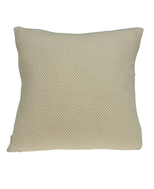 Parkland Collection Cassi Transitional Tan Pillow Cover