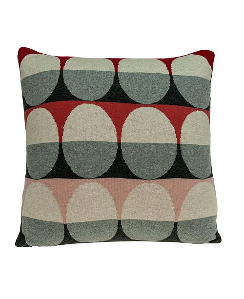 Parkland Collection Zinca Transitional Multicolor Pillow Cover With Down Insert