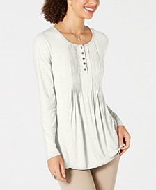 Long-Sleeve Pintuck Top, Created for Macy's