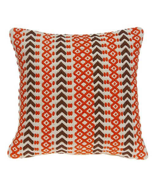 Parkland Collection Larka Bohemian Multicolor Pillow Cover with Polyester Insert