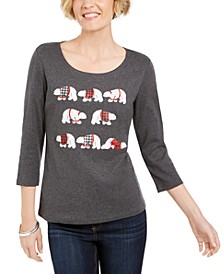 Embellished Polar-Bear Top, Created For Macy's