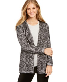 Style & Co Marled Eyelash-Knit Cardigan, Created For Macy's