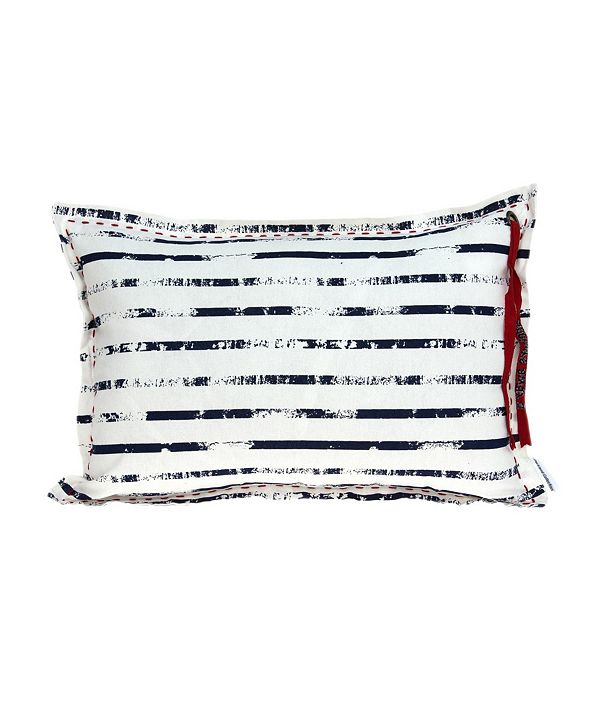 Parkland Collection Oceana Nautical White Pillow Cover with Polyester Insert