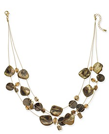 """Shell Multi-Row Illusion Statement Necklace, 18"""" + 2"""" extender, Created For Macy's"""