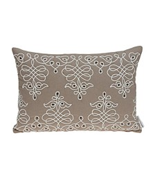 Omni Traditional Tan Pillow Cover with Polyester Insert