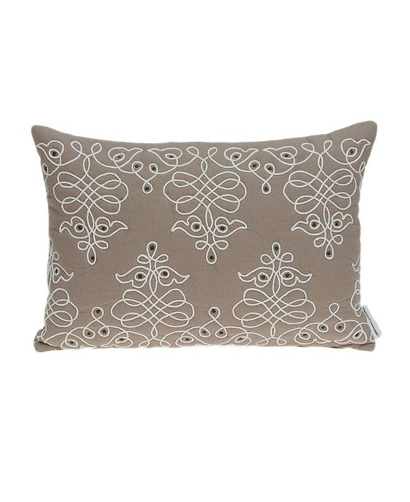 Parkland Collection Omni Traditional Tan Pillow Cover with Polyester Insert